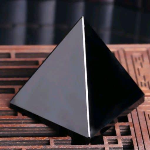 Black Obsidian Protection Pyramid