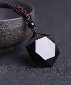 Black Star Obsidian Necklace