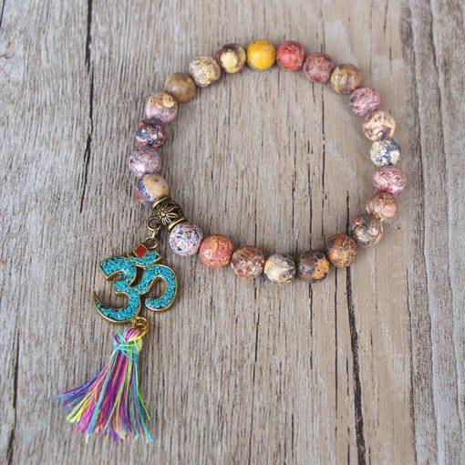 Natural Stones Om Bracelet